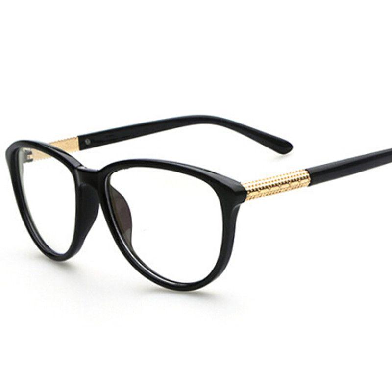 Novos Oculos Vintage Mulheres Designer Oval Quadro Oculos De Lente