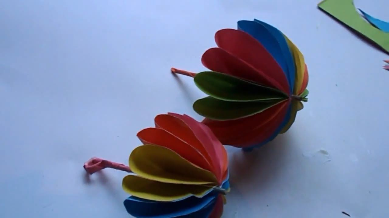 How To Make A Paper Umbrella Easy Origami Tutorial Tutorial In