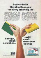 Scotch-Brite Scrub'n Sponge 1974 Ad Picture