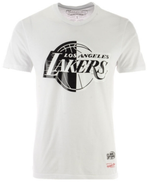 aca4d2f9f Mitchell   Ness Men s Los Angeles Lakers Black White Split T-Shirt -  White Black XL