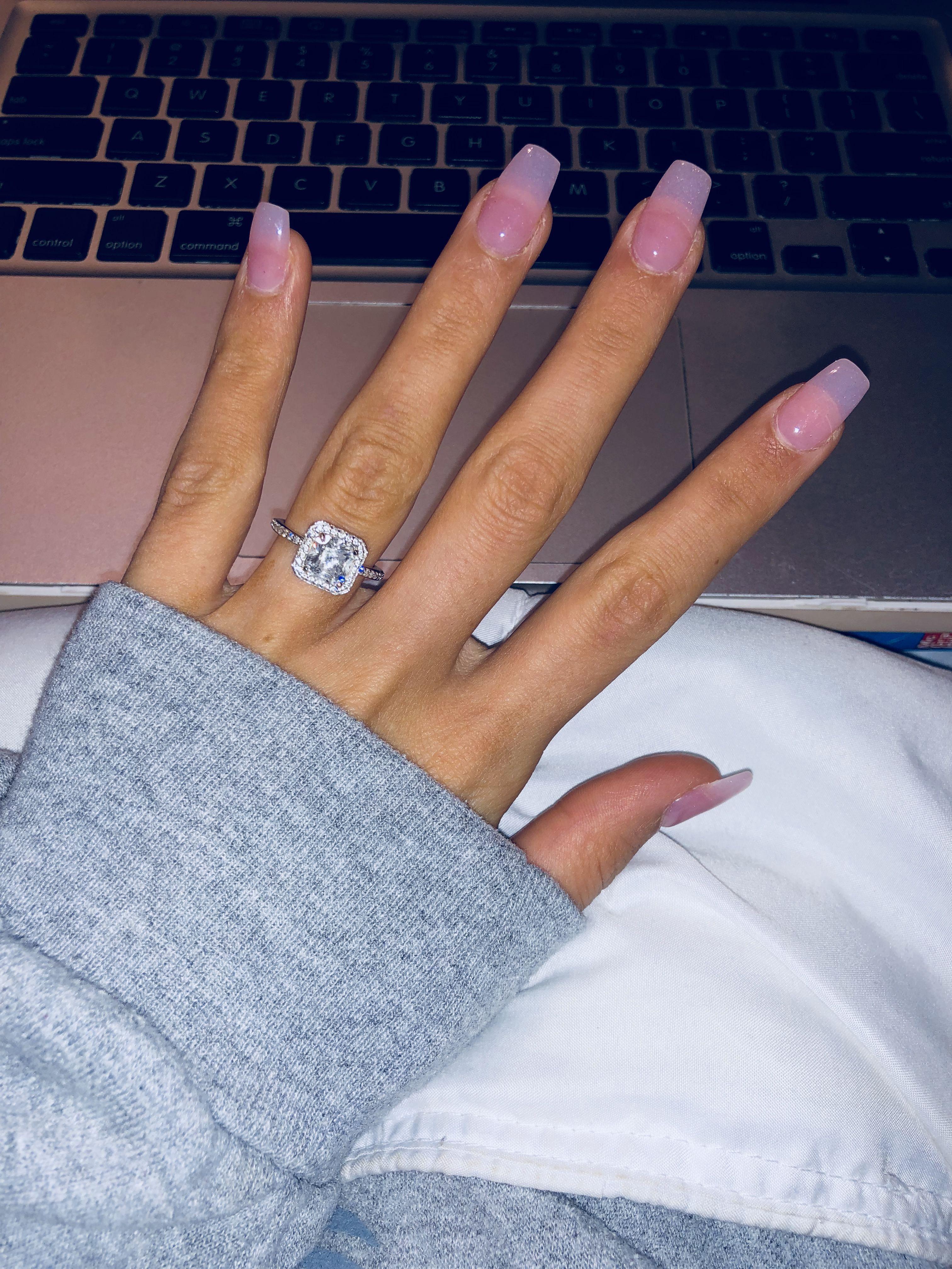 Natural Pink Acrylic Sns Powder Coffin Nails Pink Powder Nails Pink Acrylic Nails Pink Clear Nails