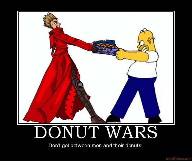 Trigun Vash The Stampede Donut Wars Trigun Vash The Stampede Homer