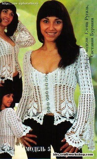 Delicacies In Crochet Gabriela 80 Free Patterns Blouses Excellent