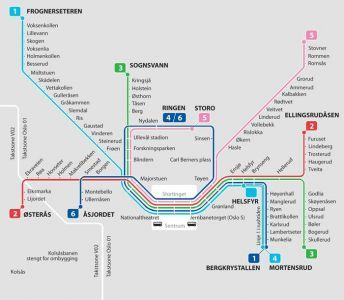 Oslo City Subway Map Subway Map Metro Map Oslo