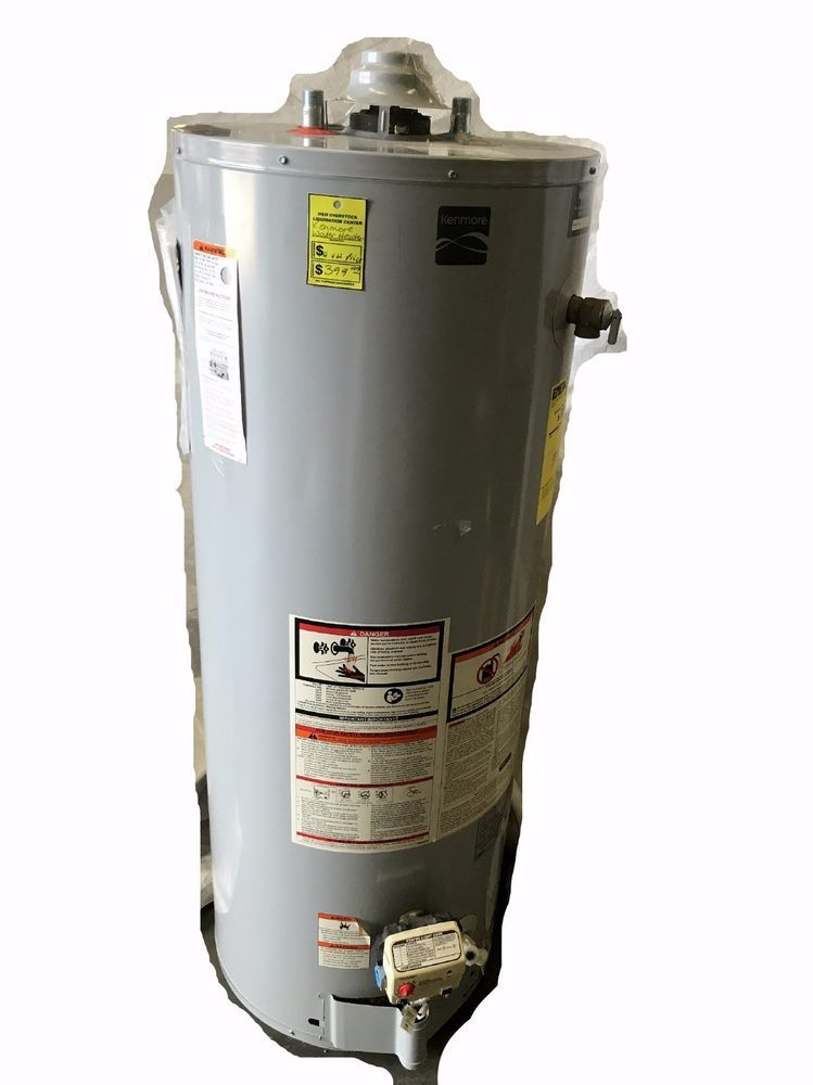 Kenmore 57651 Whole House Indoor Liquid Propane Water Heater 50 Gallon Gray Water Heater Kenmore Propane