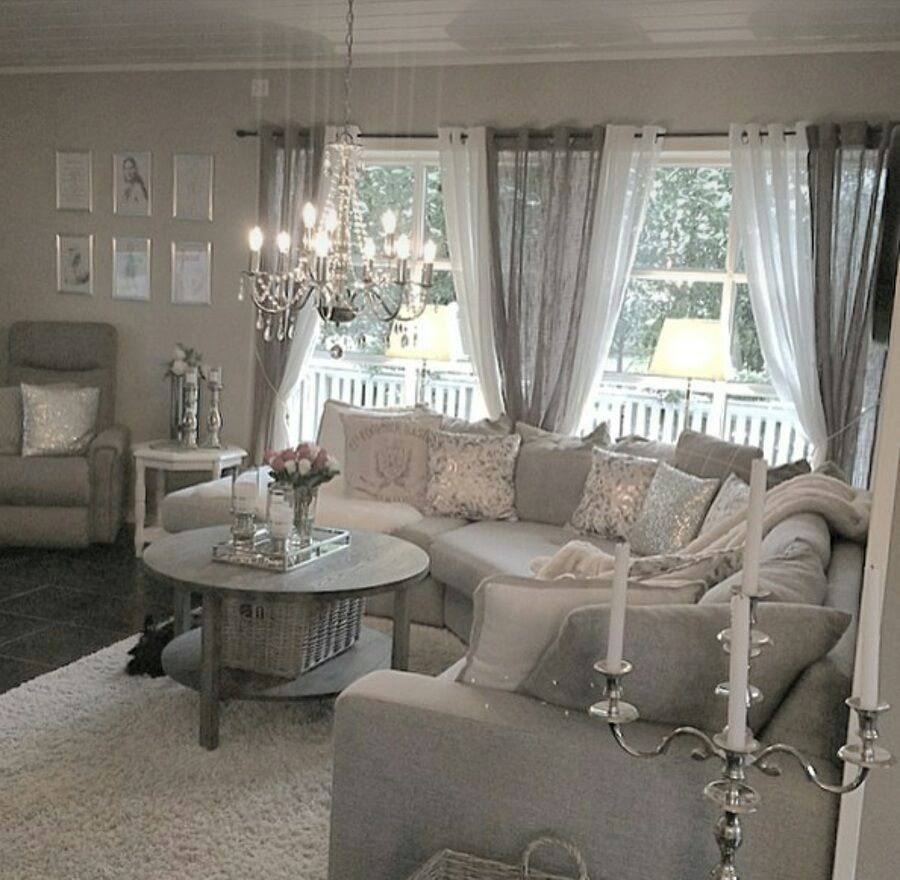 Grey curtains living room - Buon Pomeriggio Visto Il Successo Che Riscontra Sia Qui Che Nelle Mie Pagine Facebook Shabby Lounge Curtainsgrey Curtainsgrey Living Room