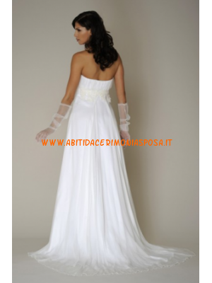 semplici ed eleganti senza spalline abiti bianchi da sposa i ...