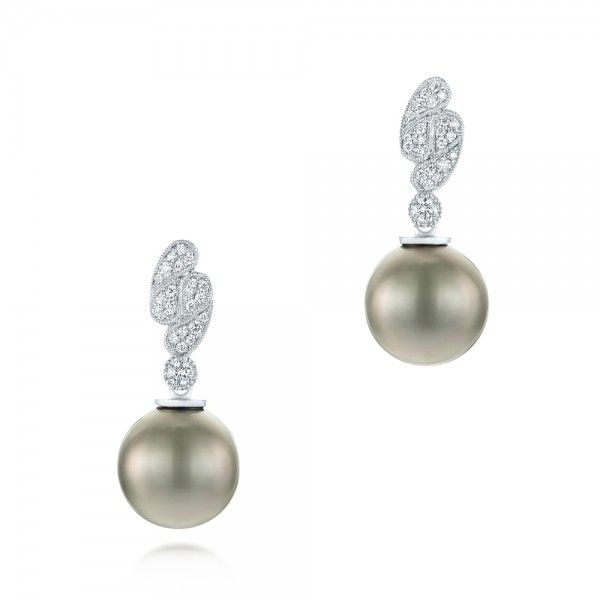 Pearl And Diamond Drop Earrings Joseph Jewelry Bellevue Seattle Online Design Your Own
