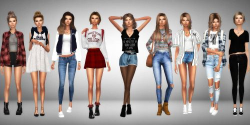 Back To School Lookbook1. • Hair [xx] - @thesimwithoutaname • Top [xx]…