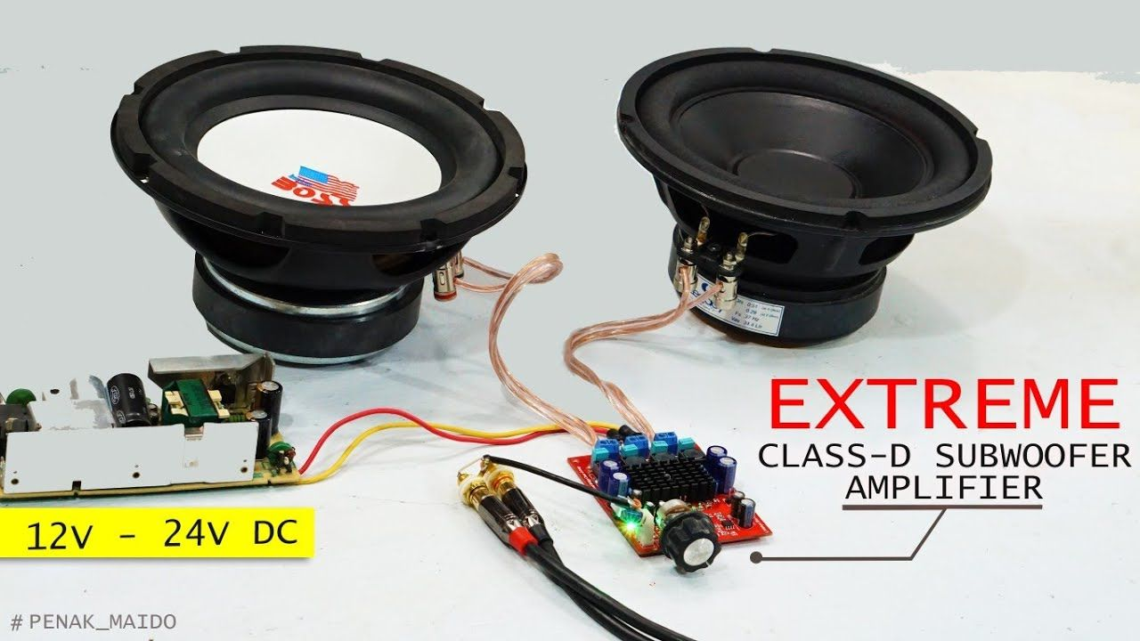 Extreme Subwoofer Test With Mini Tpa3116d2 Class D Amplifier