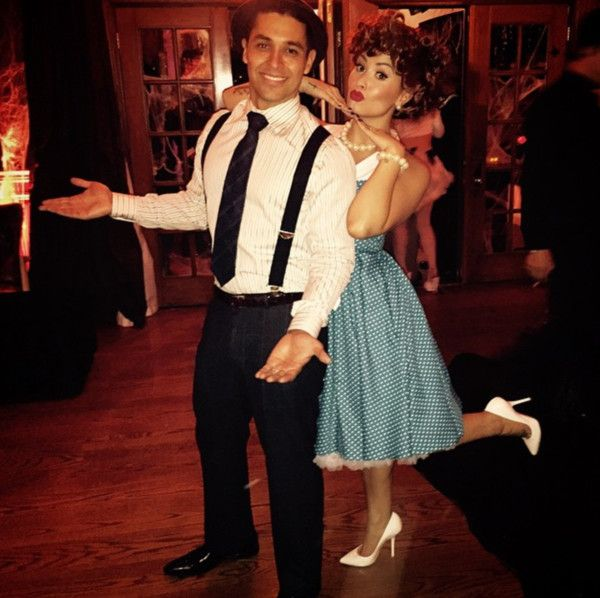 Demi Lovato and Wilmer Valderrama as Lucy and Ricky Ricardo Wilmer - celebrity couples halloween costume ideas