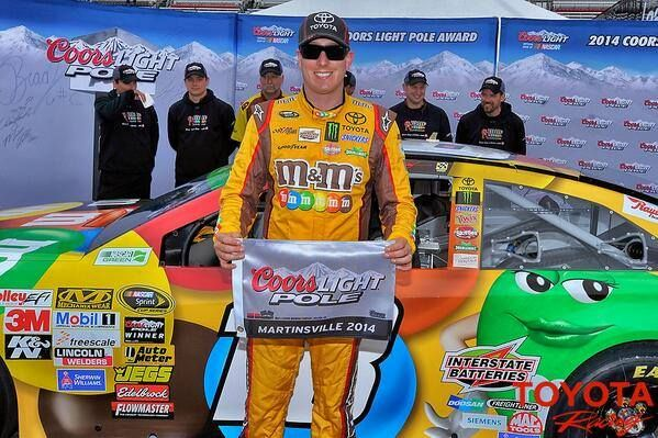 Kyle Busch wins the pole for this weekends race in Martinsville