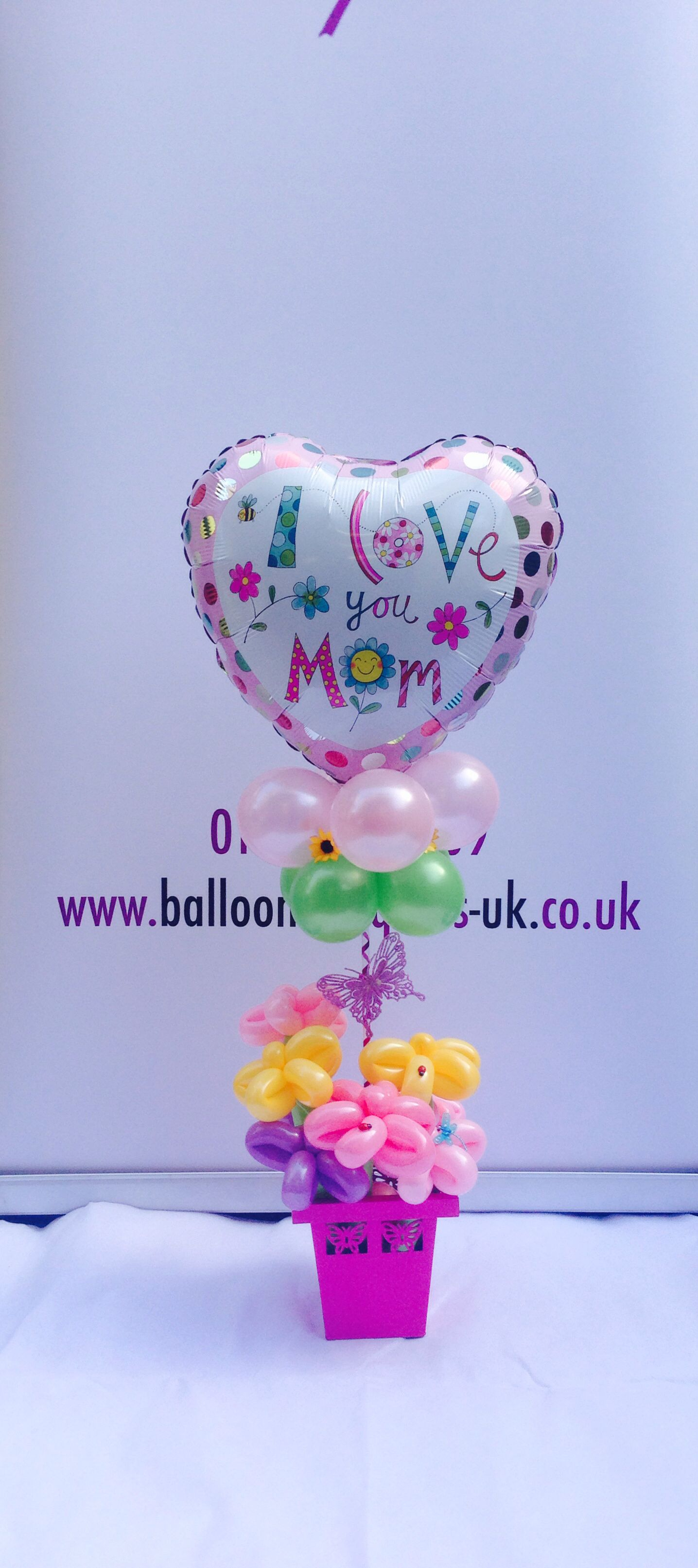 Mothers Day balloons or Birthday Balloons Designed by www.balloonbouquets-uk .co.uk