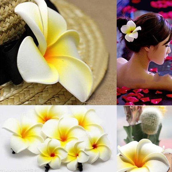 Frangipani Hairpin Side Hair Clip Beach Wedding Flower Hair Accessory Flower Hair Accessories Wedding Beach Wedding Flowers Beach Wedding Hair Flowers