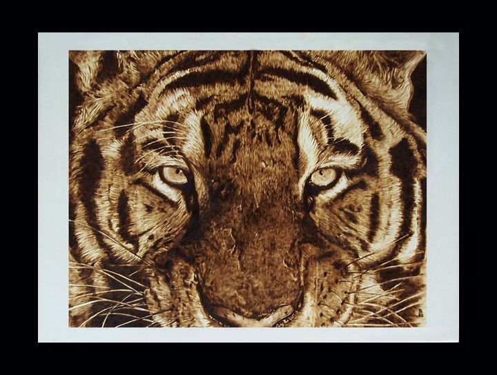 Amazing tiger  #pyrography