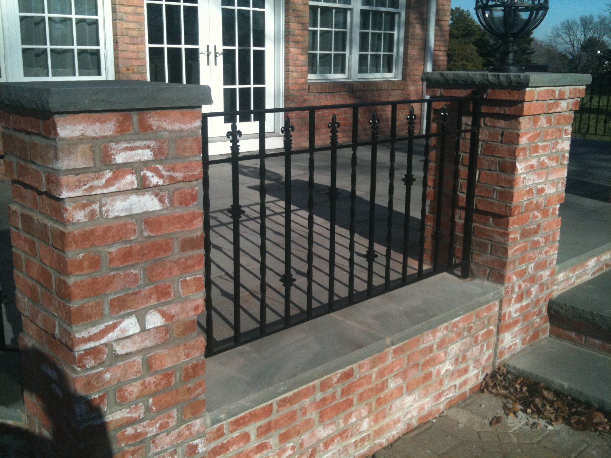 Best Iron Deck Railings In Between Brick Wrought Iron Deck 400 x 300
