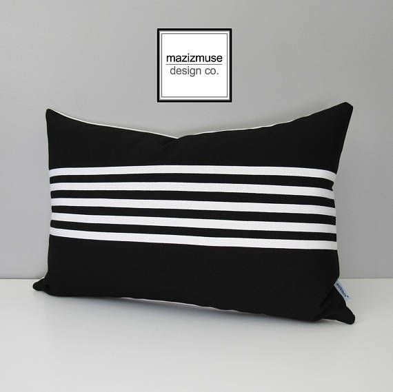 Black and White Striped Pillow Cases