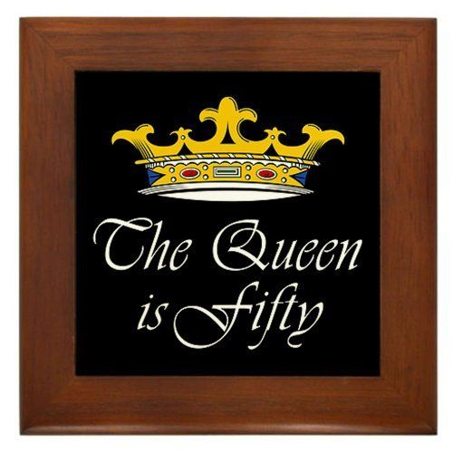 50th birthday gifts woman framed tile by cafepress by cafepress quality construction - Geburtstagsideen 50 ...