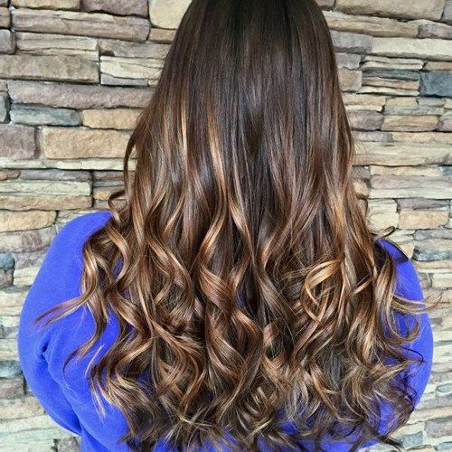 40 unique ways to make your chestnut brown hair pop ombre dark brown hair with golden brown ombre highlights pmusecretfo Image collections