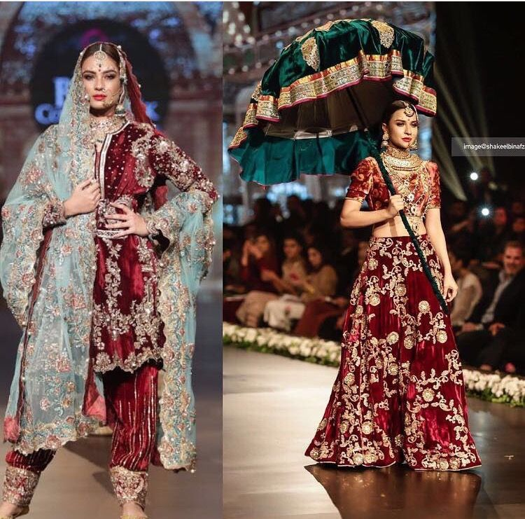 Red Velvet Wedding Dress Pakistani Fashion Pakistani Dress Design Pakistani Dresses Pakistani Fashion