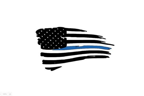Tattered American Flag Thin Blue Line Decal Vehicle Decals Car Window Decal Vinyl Decal Jeep Decal Thin Blue Line Decal American Flag Tattoo Police Tattoo