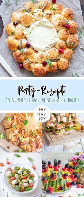 15+ einfache und kreative Ideen für Party Essen