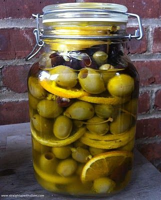 Marinated Olives from Straight Up with Olives