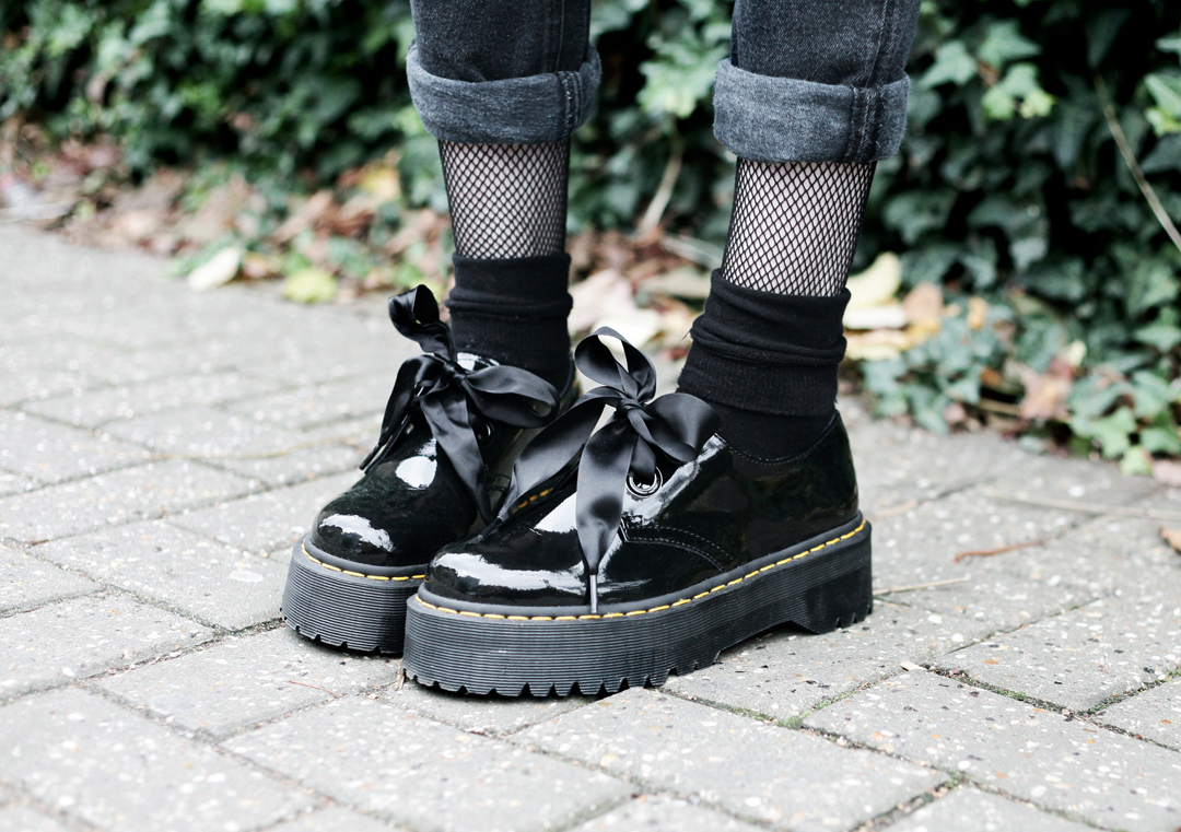 Olivia Emily wears Dr Martens Patent