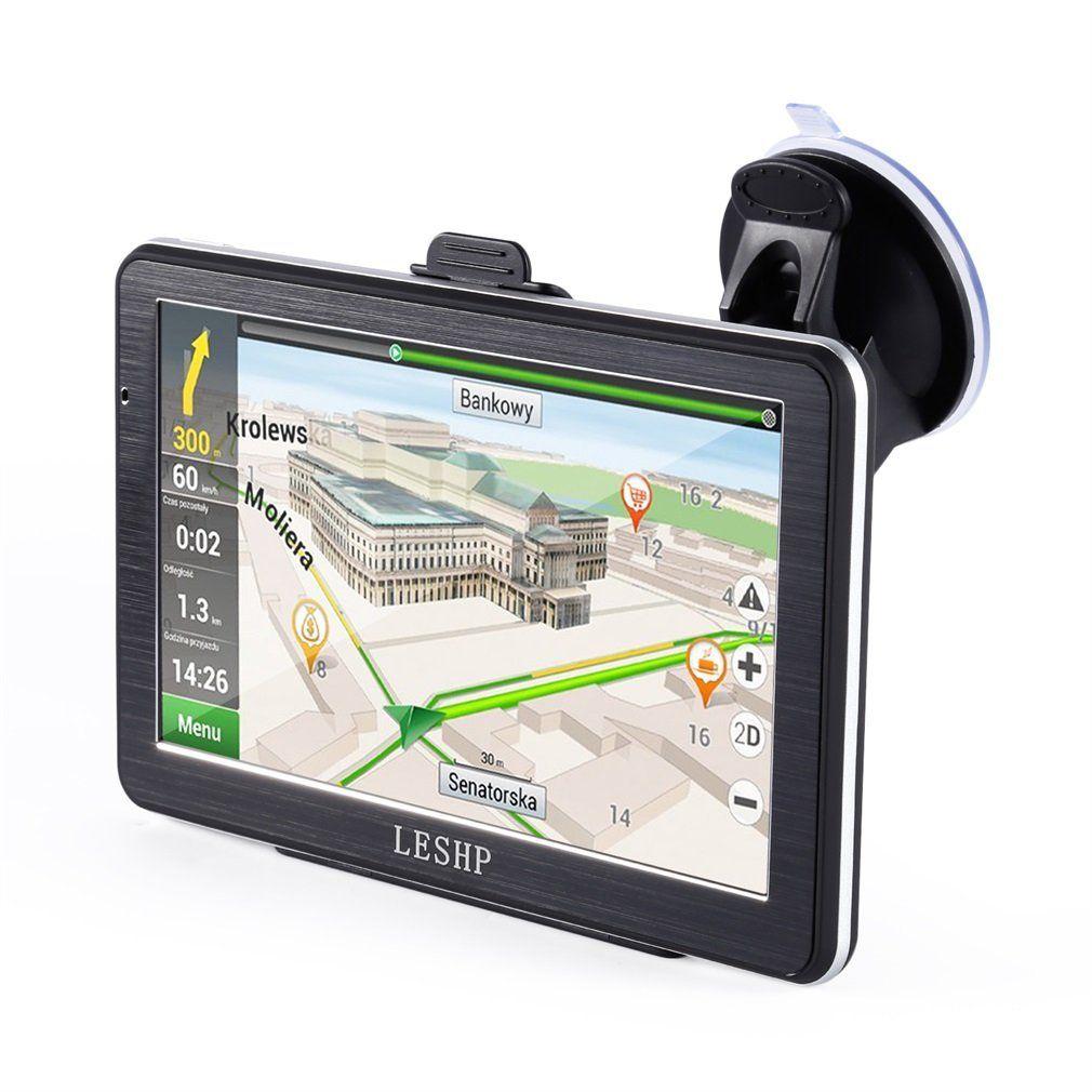 leshp 7 inch hd car gps navigation android 8gb quad core. Black Bedroom Furniture Sets. Home Design Ideas
