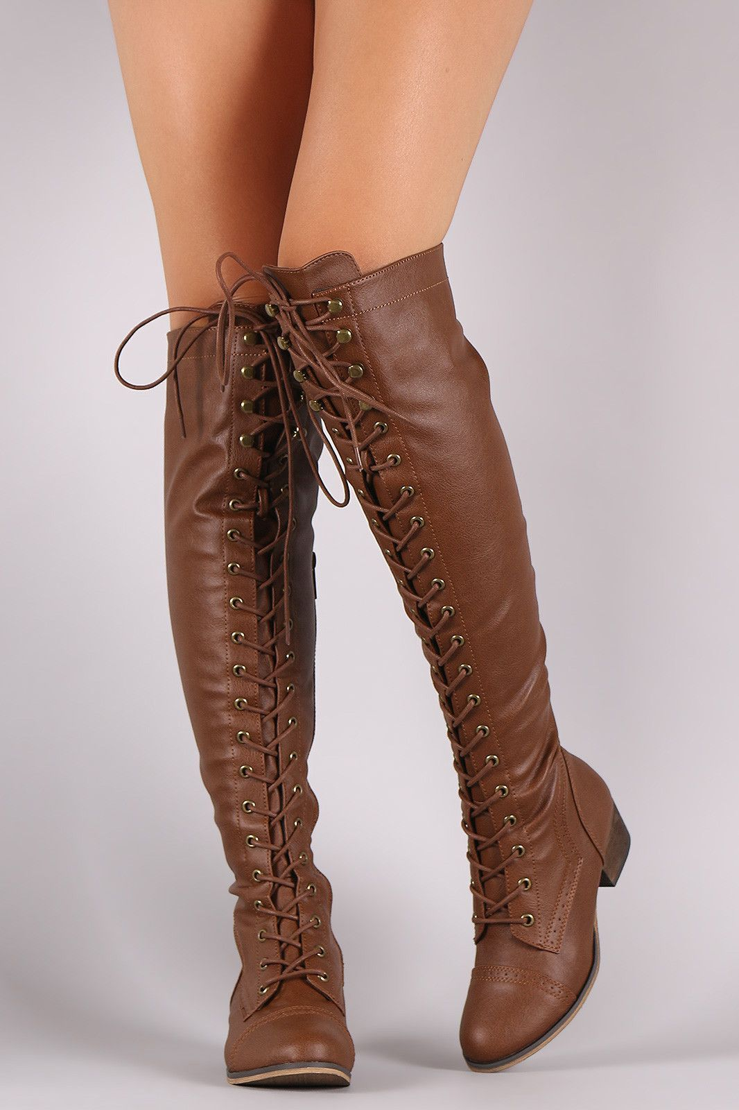 Breckelle Combat Lace Up Over The Knee Boots Knee Boots Boots Over The Knee Boots