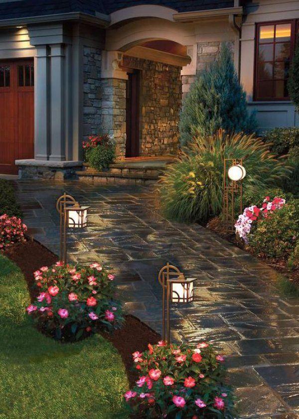 7 manires dclairer son alle de jardin - Amenagement D Une Allee Maison