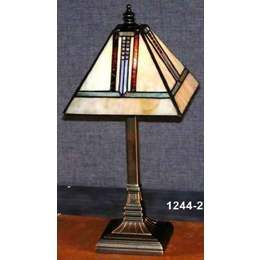 Mission Style Mini Tiffany Table Lamp Pst 1244 2 Tiffany Table