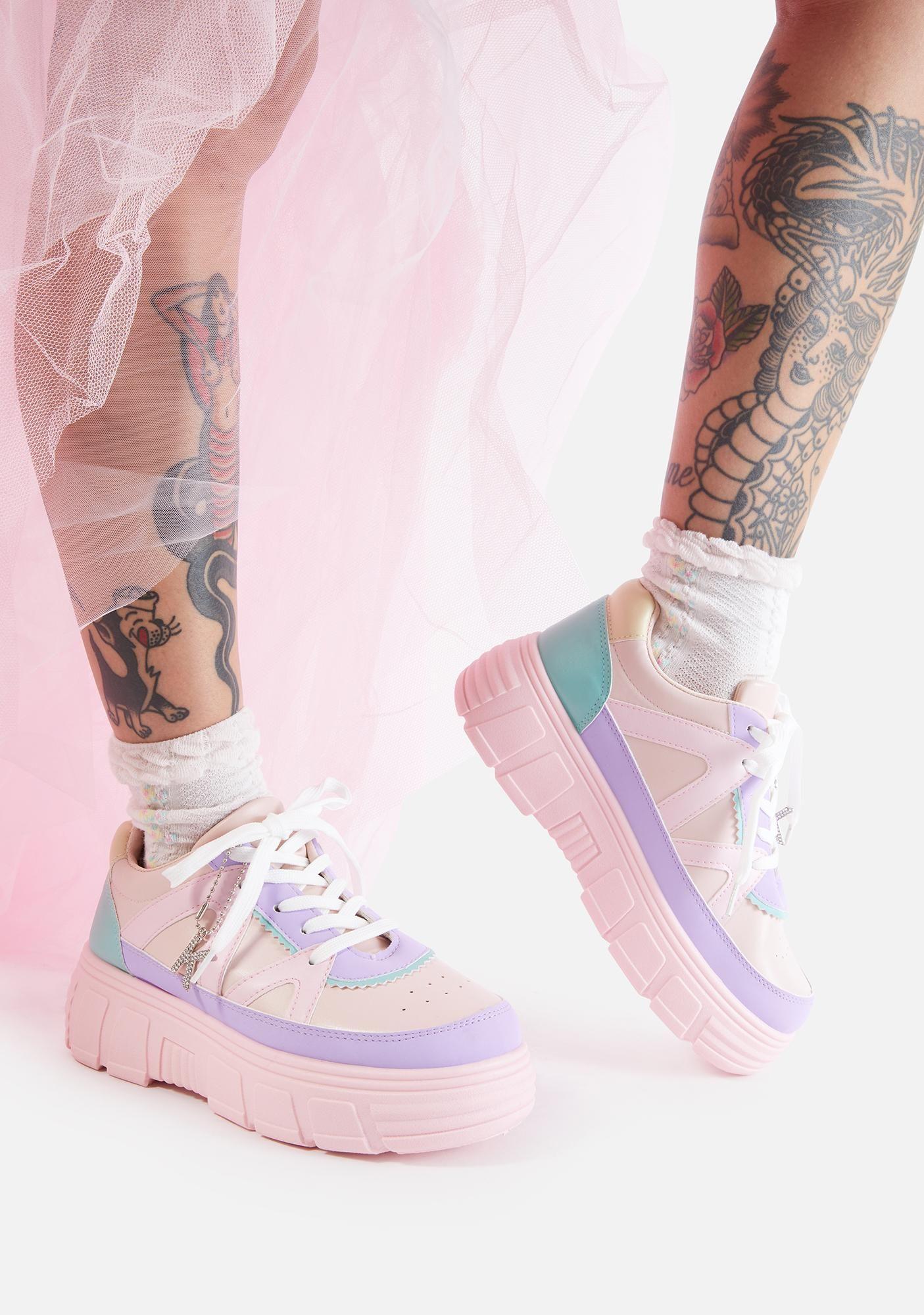 Pink Aiya Platform Sneakers in 2020