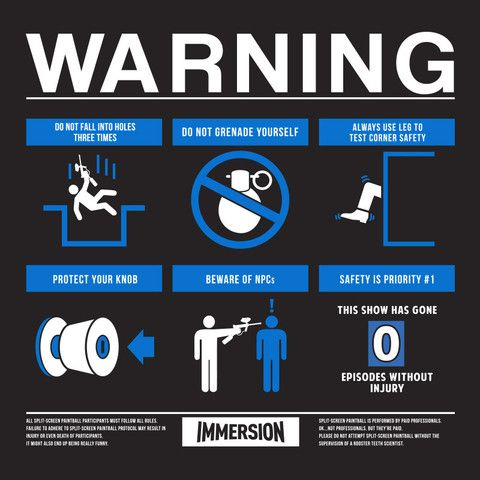 Immersion Warning Label Shirt   closet   Rooster teeth store