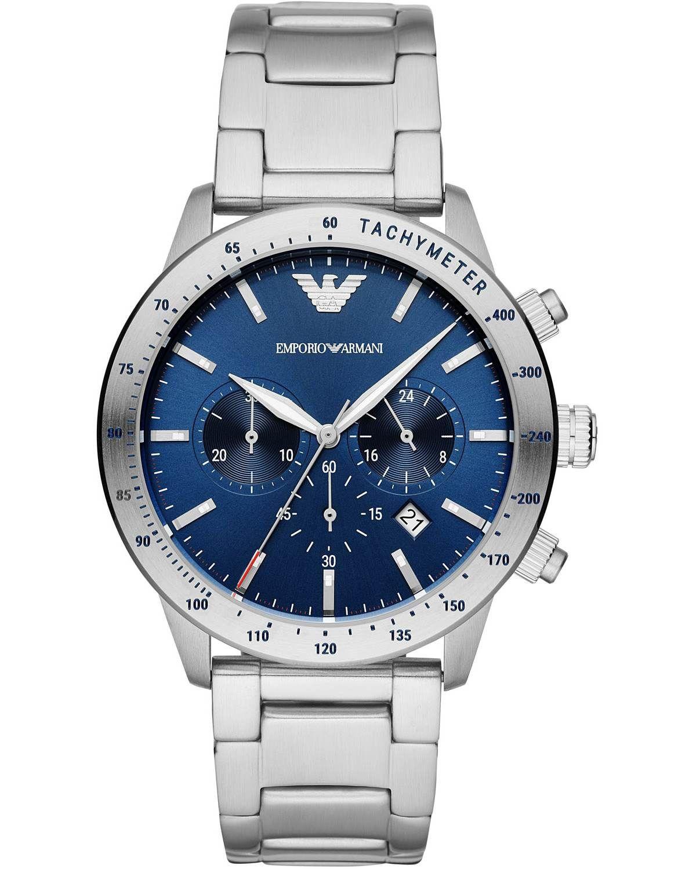 Emporio Armani Mario Chronograph Silver Stainless Steel Bracelet Ar11306 In 2020 Herren Chronograph Edelstahl Emporio Armani