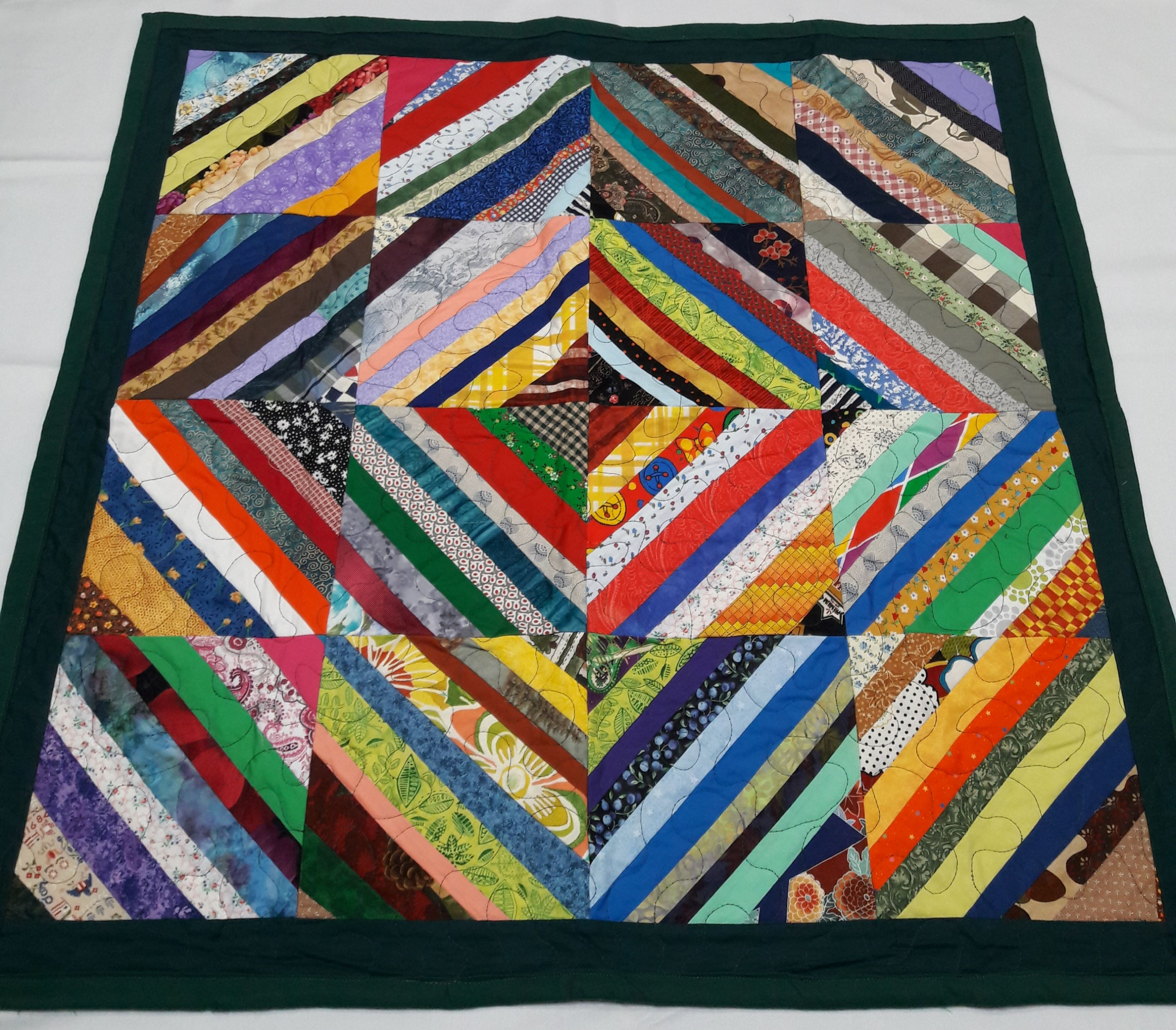 Here is a colorful quilt for a nursing home patient or