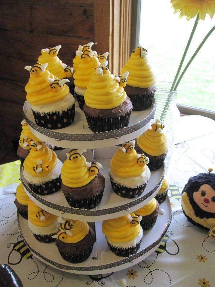 Bumble Bee Birthday Party Ideas Beehive Cupcakes Bumble Bee