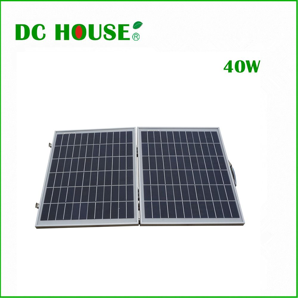 40w 12v Poly Portable Folding Solar Panel With Controller And Battery Clips For 12v Battery Car Rv Boat With Images Solar Panels Roof Solar Panel Solar Generators