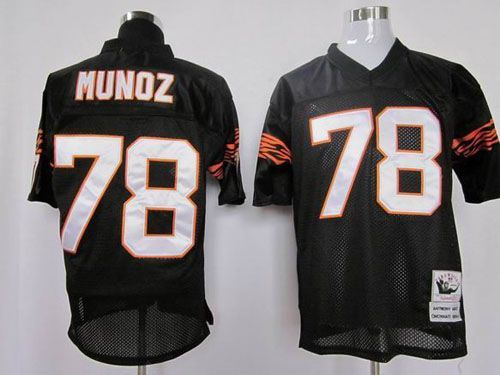 sale retailer b601d a217b Mitchell and Ness Cincinnati Bengals 78 Anthony Munoz Black ...