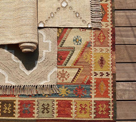 Recycled Yarn Kilim Indoor Outdoor Rug