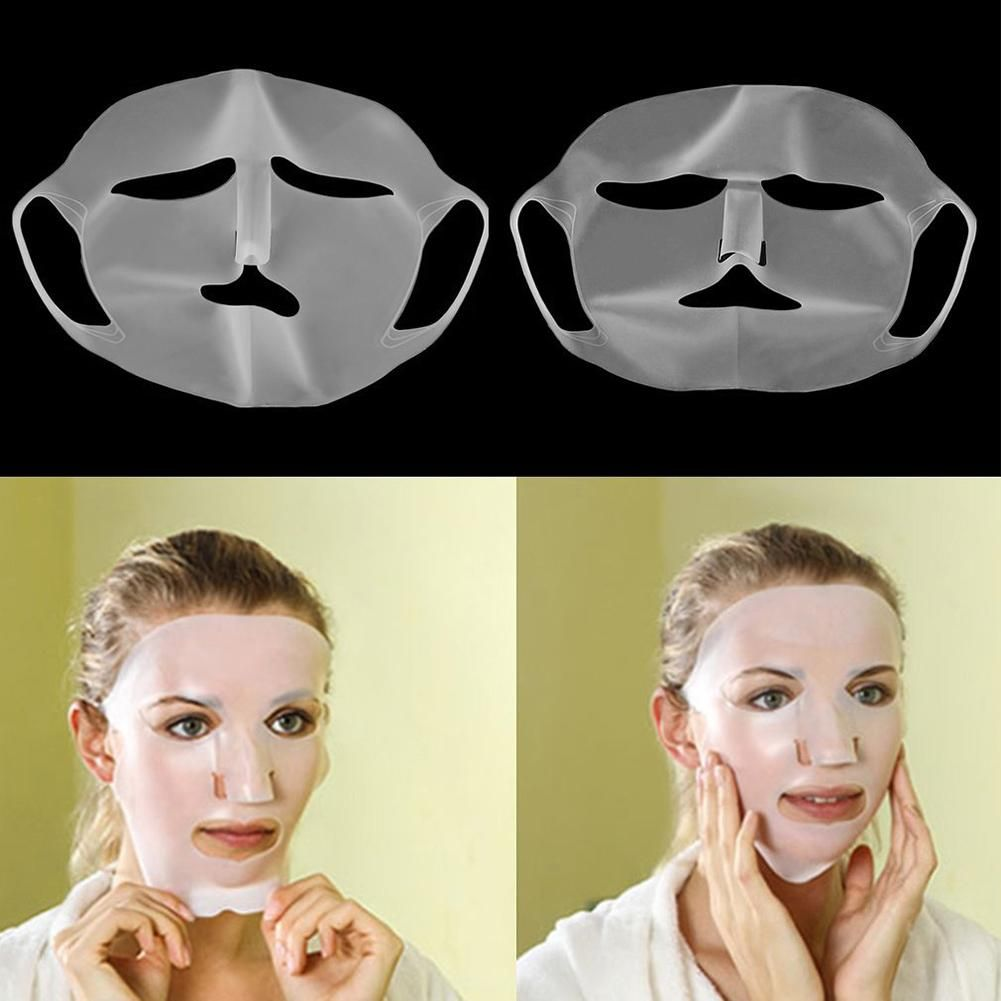 Photo of Women Silicone Face Mask Cover Prevent Evaporation Speed Up Essence Absorption – White