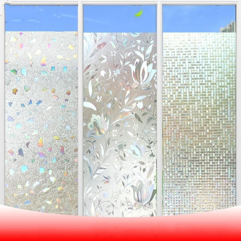3m Long 3d Laser Electrostatic Glass Film For Move Doors And