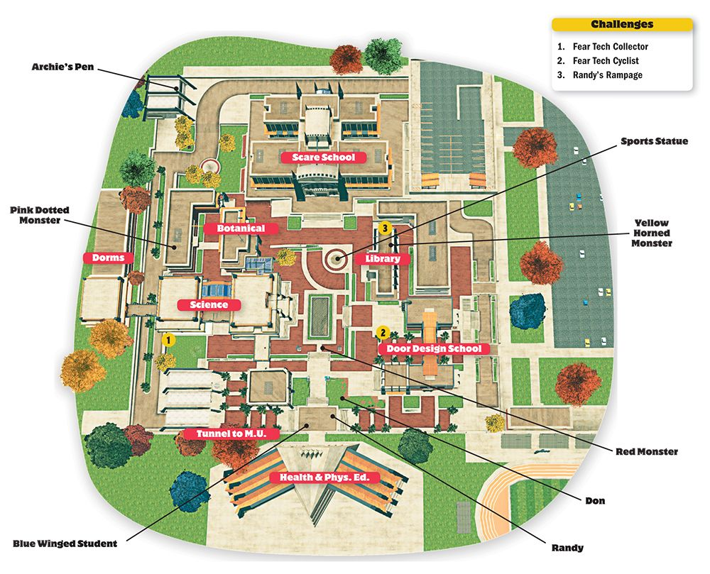 Cca Sf Campus Map.Monsters University Campus Map Artists Monsters