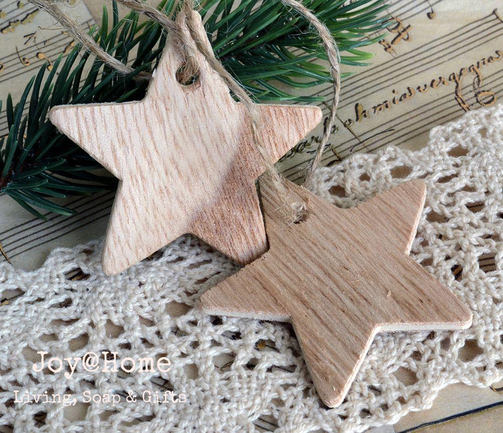 Houten Ster Hangers Kerst Decoratie Ster Hanger