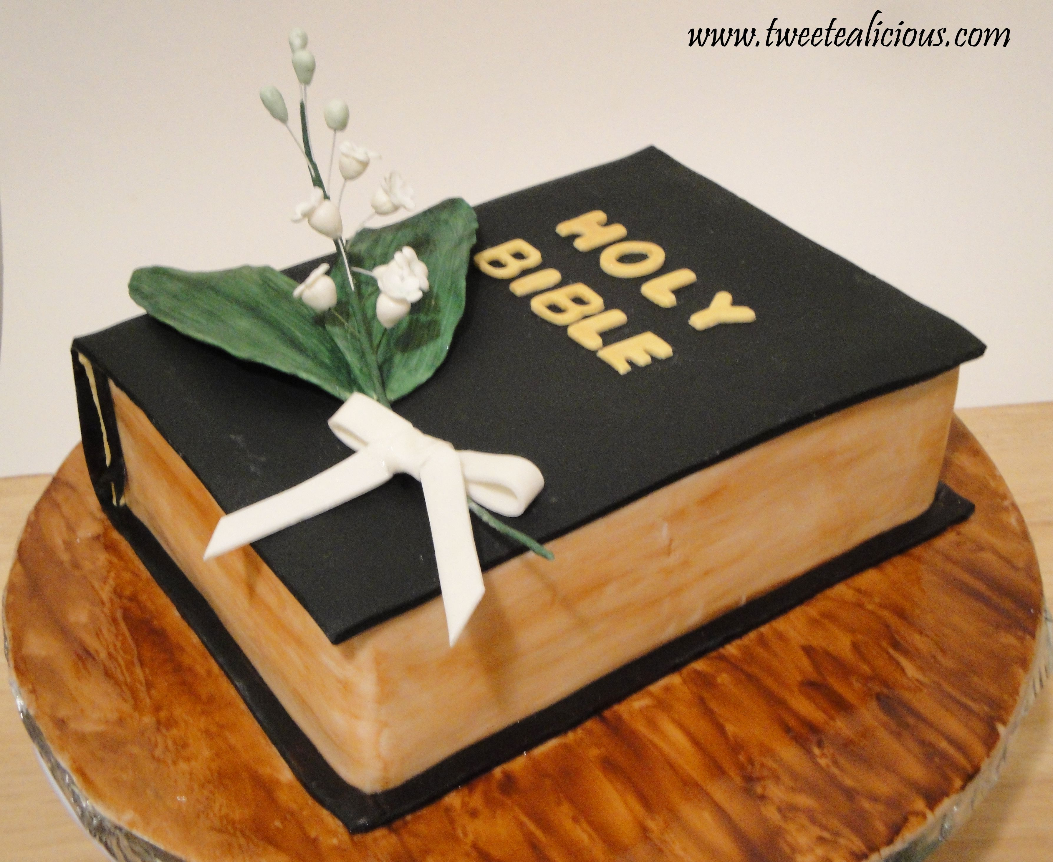 Mehndi Cake Tutorial : Bible cake with lily of the valleys recipes christian
