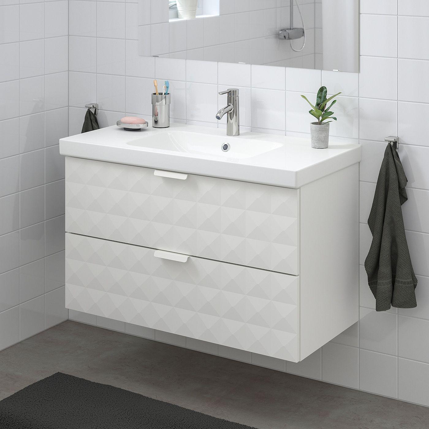 Ikea Godmorgon Odensvik Waschbeckenschrank 2 Schublade Resjon Weiss Dalskar Mischbatterie In 2020 Waschbeckenschrank Ikea Godmorgon Badezimmerwaschtisch