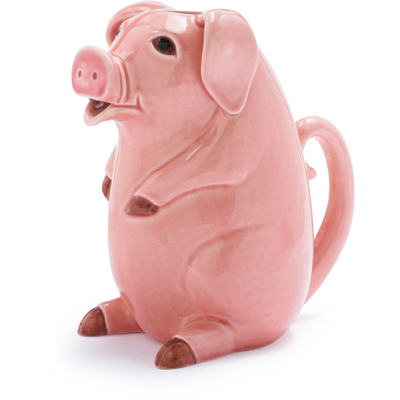 Pink Ceramic Pig Pitcher Sur La Table Pink Ceramic Pig Piggy