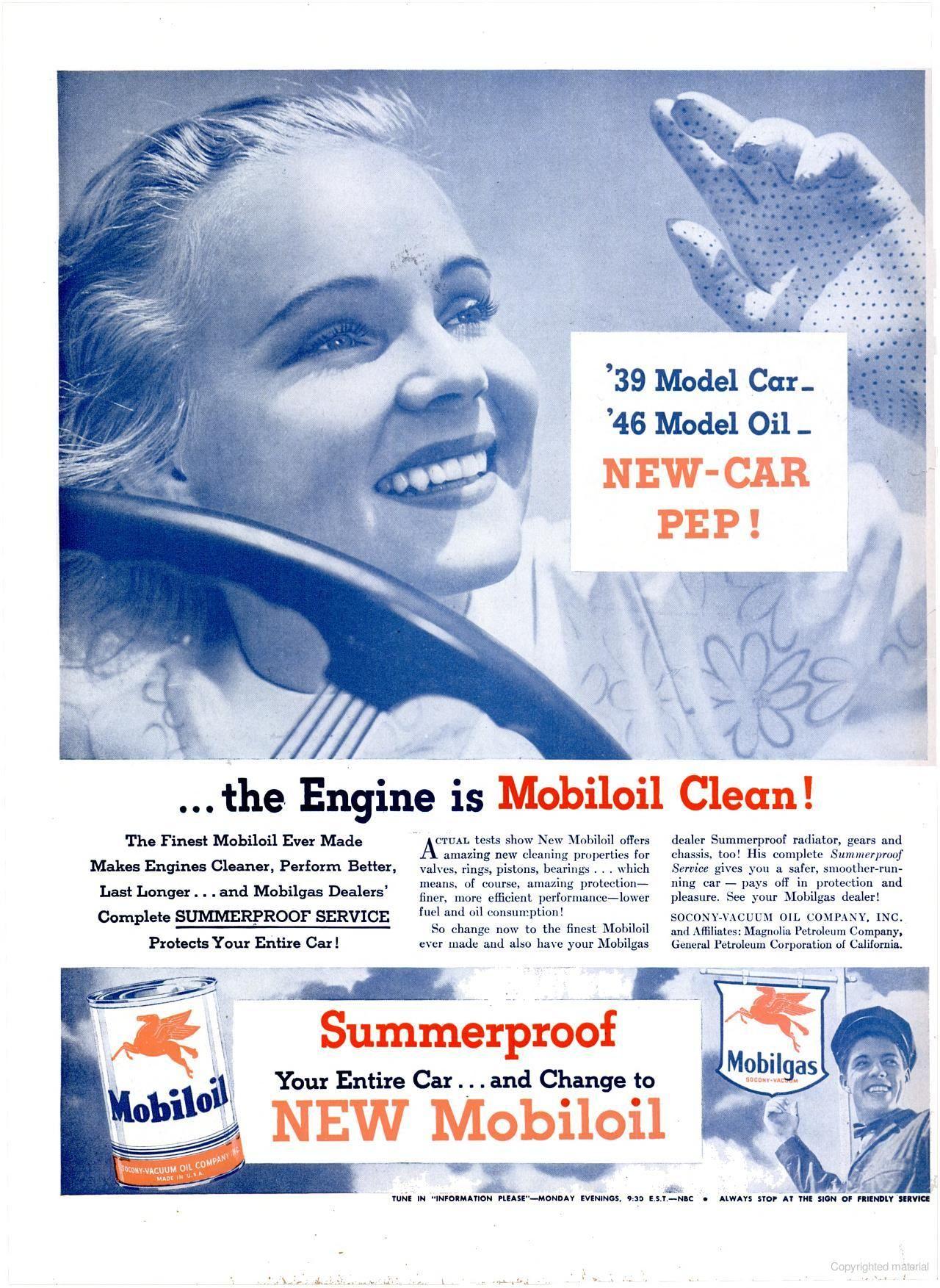 Mobiloil, 1946