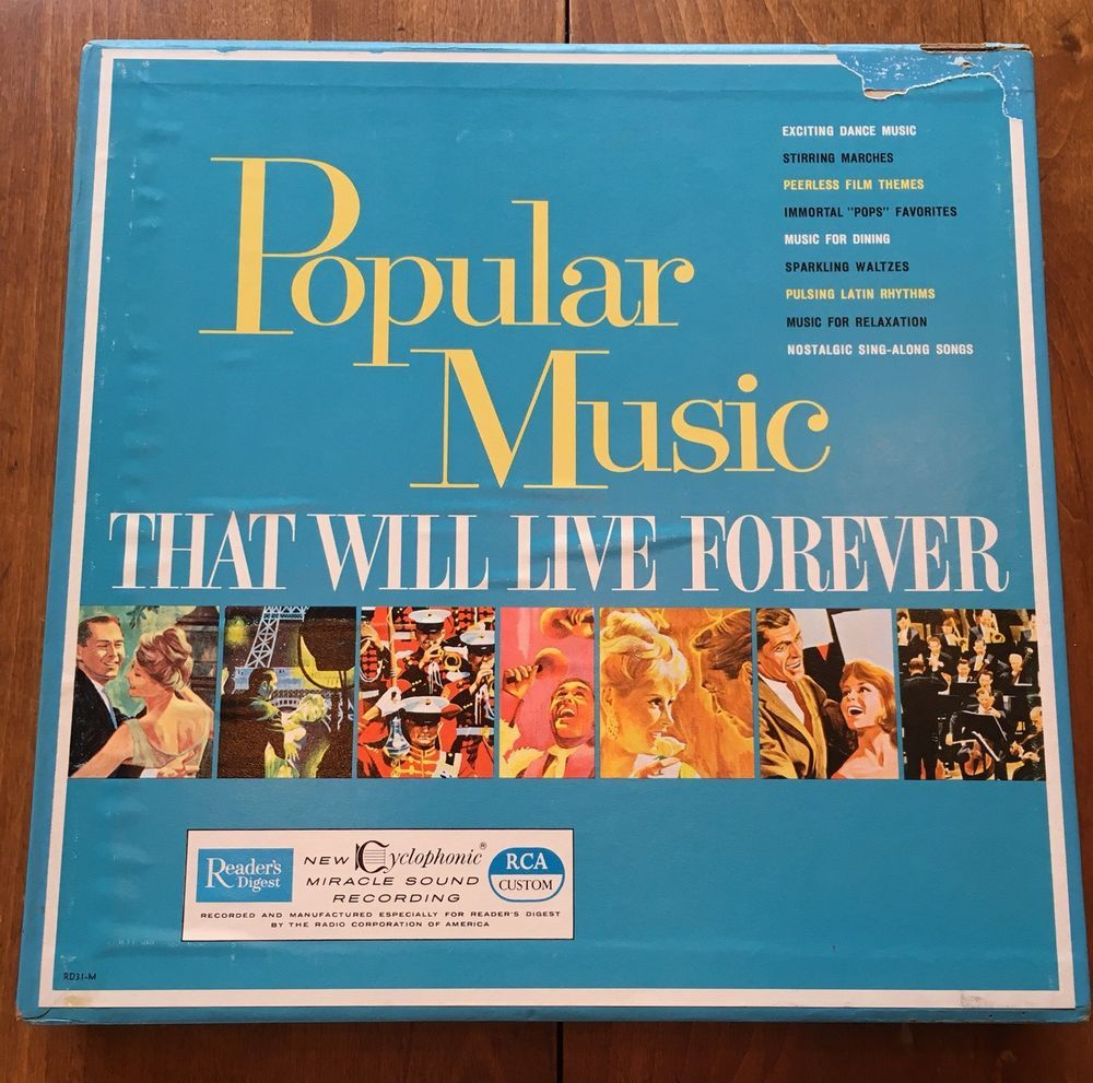 Readers Digest Popular Music That Will Live Forever 10 Vinyl Record Box Set Rd31 Ebay Popular Music Classic Album Covers Vinyl Records
