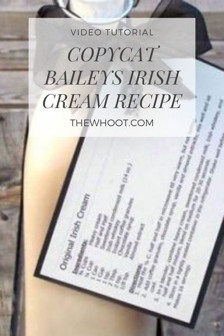 How To Make Best Copycat Baileys Irish Cream Recipe | The WHOot